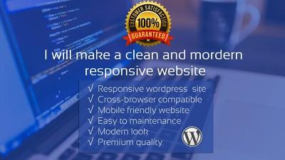 Design And Develop SEO Friendly, Responsive  WordPress Website / Blog
