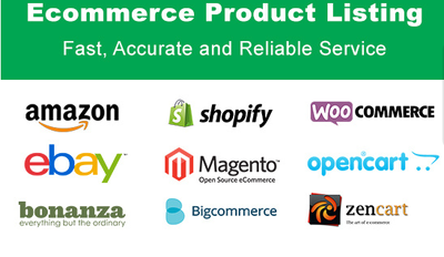 Add / list / upload 50 products to any Magento / Shopify / Woocommerce or any store