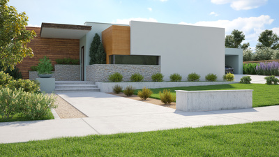 Create up to 4 - 3D perspective renders from your house plans, up to 2000 sq.ft