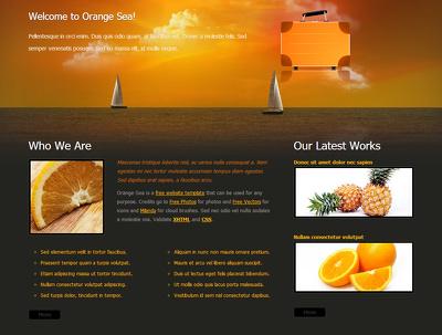 Desgin one page web site