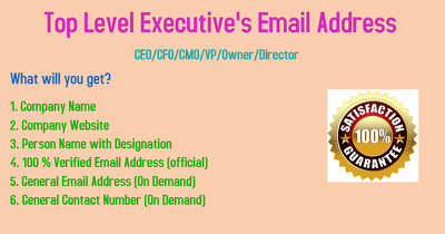 Provide you 200 contact details of top level executives