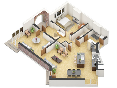 Render one floor plan.