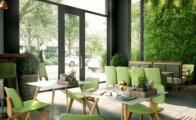 Design an Eco-friendly restaurant