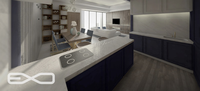 Design and render your interior space (<25 square meter floor area)