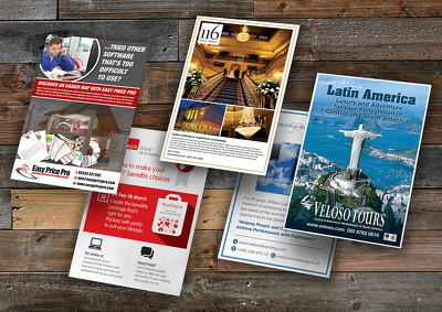 Create your double-sided flyer design or leaflet design