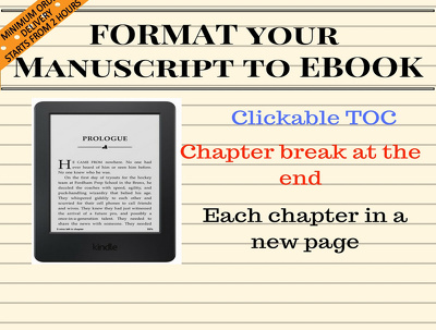 convert your manuscript to E-book