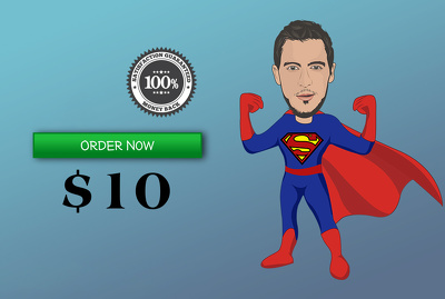 Draw Superhero CARTOON Character From Your Photo