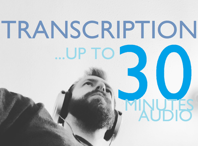 Transcribe up to 30 minutes of audio.