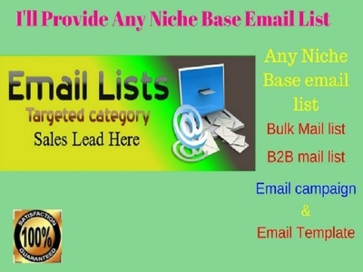 Do collect any niche base business mail list