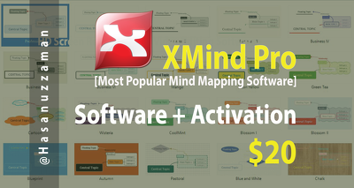 Provide XMind Pro (Most Popular Mind Mapping Software) with Lifetime Activation