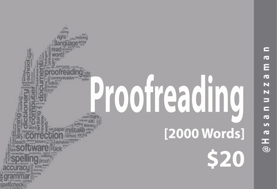 Proofread your 2000 words content accurately within 24 hour for $20