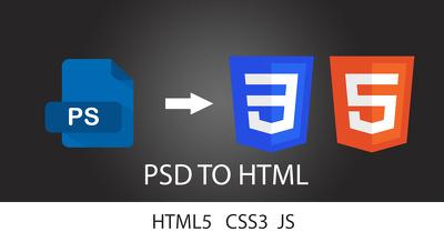 PSD to responsive HTML5 + CSS3 + Js