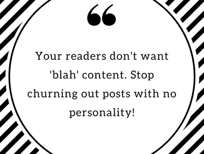 Write a personality-filled short form post for your blog