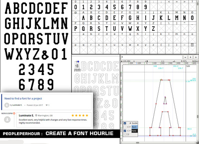 Create a font with alphabets and digits