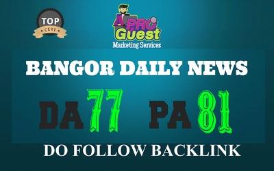 Publish a Premium Guest Post on Bangordailynews.com - DA77, PA81