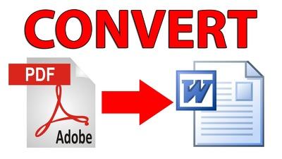 Make PDF to word file conversion