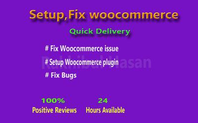 Install, fix & configuration woo-commerce plugin