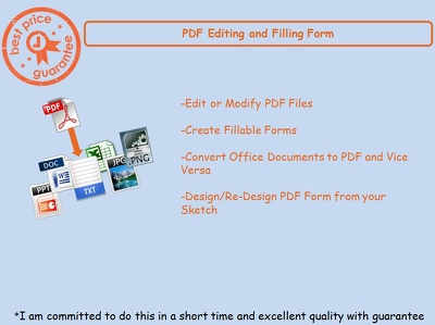 Create Fill-able PDF Form and Edit PDF upto 3 Pages
