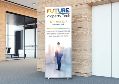 Design a premium roller banner / pull up banner or pop up banner