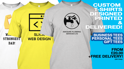 Design and print a custom t-shirt for you or your business