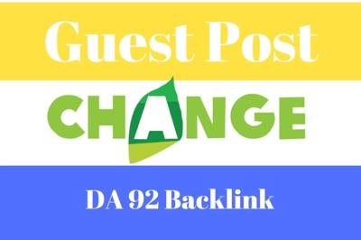 Write And Publish Guest Post On Change, Change.org DA 92