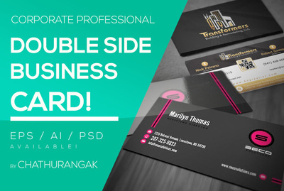 Design a business card (Double Sided)