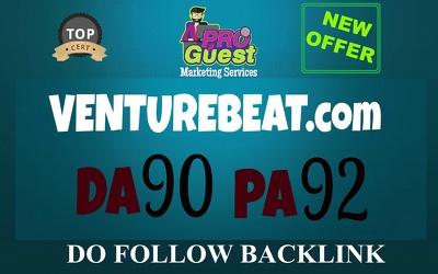 Write and Publish a Guest Post on VentureBeat.com - DA 90, PA 92