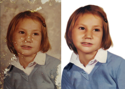 Restore old damaged photo do any photo editing job in photoshop