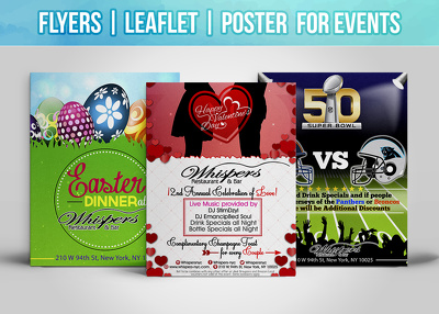 Design your flyer, leaflet, poster double sided