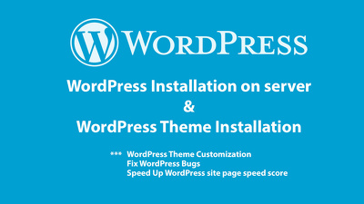 Install WordPress and WordPress theme on server