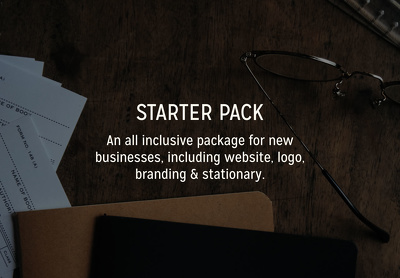 Create your website, logo, branding & stationary.