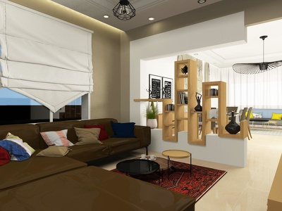 Create a realistic 3d render of any interior
