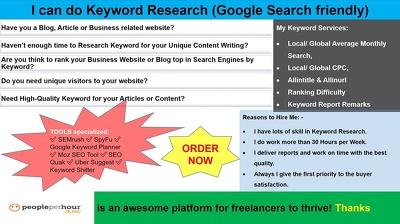 Do Keyword Research (Google Search friendly)