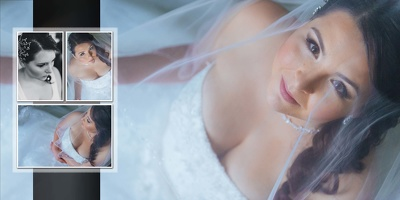 Design a layouts for your wedding album
