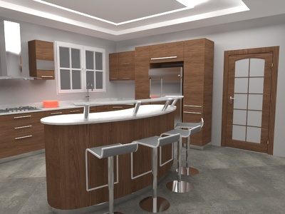 Design inspiring kitchen for you with 2 revisions