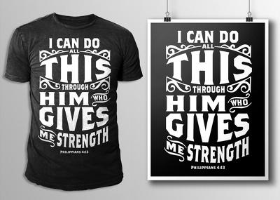 Design typography t shirt design