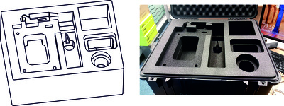 Can design 3D CAD file for custom insert foam, ready to CNC routing, for 8 inserts