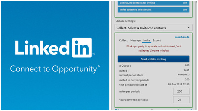 Send 500 targeted LinkedIn invitations with personalized messages