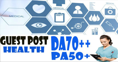 Write and Publish Guest Post on Health Blog DA70 with DoFollow Backlink