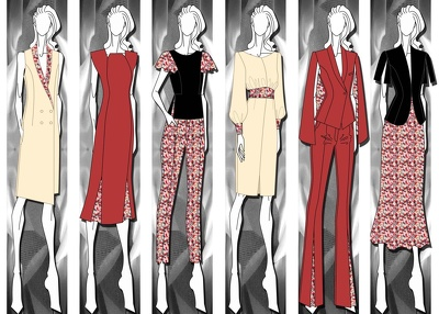 Create both manual & digital fashion illustrations and technical packs.