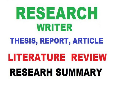 Write research paper, Literature Review,