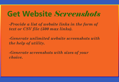 Take screenshots of 500 websites