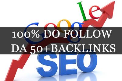 Build 10 DO Follow Backlinks Domain Authority 50+