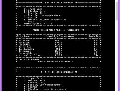 Develop java/C/C++/Bluej small console application/program