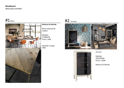 Create two Interior design moodboards to choose the style you are looking