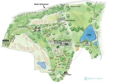 Create a bespoke, hand drawn map with personalised elements.