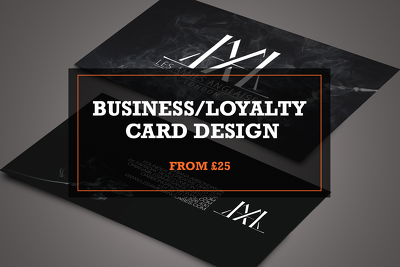 Design you a professional looking business/loyalty card