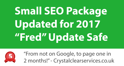 Small SEO Package - Updated for 2017 - Fred Update Safe
