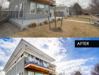 Real Estate Photo Editing Package of 5 Photos.