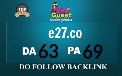 Write & publish a guest post on E27.com (DA 63, PA 69)